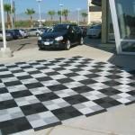 Outdoor Floor Pad: Ribtrax (Pearl Silver, Jet Black)