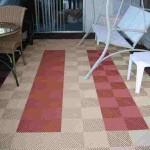 Stripe Patio: Ribtrax (Terra Cotta, Mocha Java)