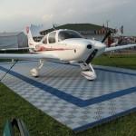 Airplane Display Pad: Ribtrax (Pearl Silver, Royal Blue)