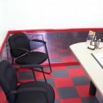 Large Office: Diamondtrax (Racing Red, Slate Grey)