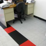Two Design Office Flooring: Diamondtrax (Racing Red, Jet Black, Pearl Silver), Floortrax (Pearl Silver)