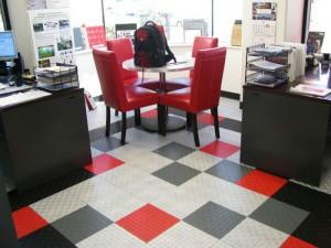 Two Design Office Flooring: Diamondtrax (Racing Red, Jet Black, Slate Grey, Pearl Silver)