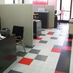 Two Design Office Flooring: Diamondtrax (Racing Red, Jet Black, Slate Grey, Pearl Silver), Floortrax (Pearl Silver)