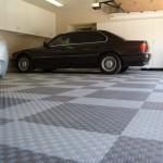 Large Checkerboard Garage: Diamondtrax (Pearl Silver, Slate Grey)