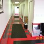 Office Flooring: Diamondtrax (Racing Red, Jet Black, Slate Grey)