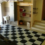 Checkerboard Garage Floor Pad: Ribtrax (Arctic White, Jet Black)