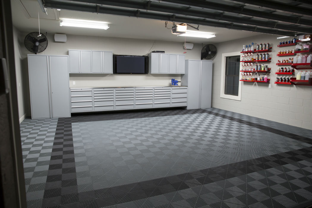 Stylish modular floors tiles and garage flooring for Garage deck