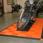 Motorcycle Pad: Ribtrax (Tropical Orange, Jet Black)