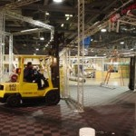 A forklift can roll over Ribtrax flooring.