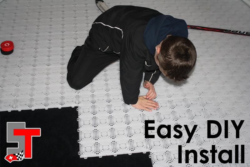 Install Hockey Tiles - Swisstrax Canada