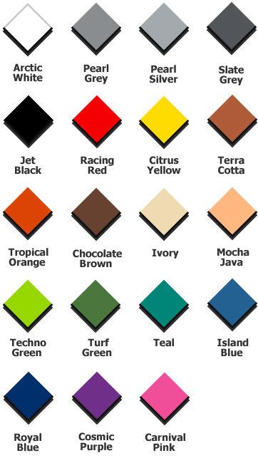 Ribtrax Tiles Color Chart