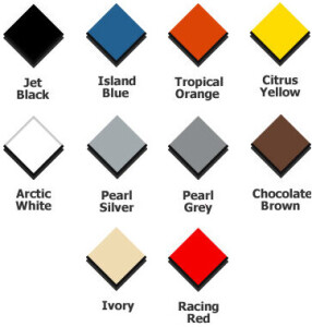 Diamondtrax Tiles Colour Chart